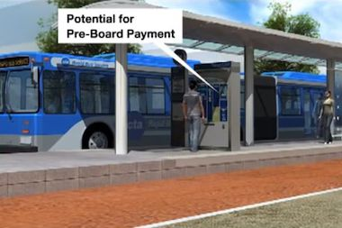 A rendering of proposed Bus Rapid Transit (BRT).
