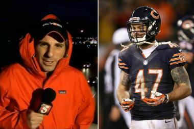 Chris Conte, the TV reporter in Nashville (left), and the Bears' safety (right).