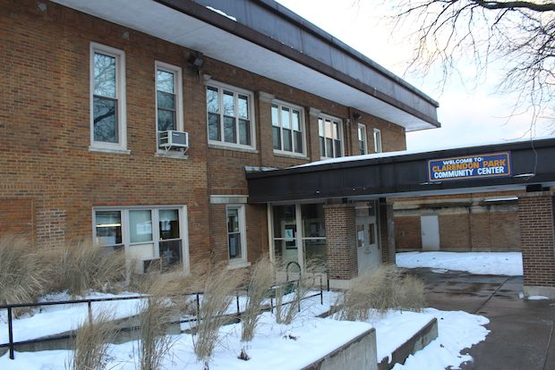 The dilapidated and deteriorating Clarendon Park Community Center was dropped from a developers TIF district plans.