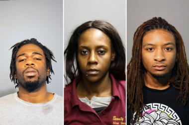 Eugene Spencer (l.), Loriana Johnson and Qaw'mane Wilson are accused of killing Wilson's mother Yolanda Holmes in September 2012.