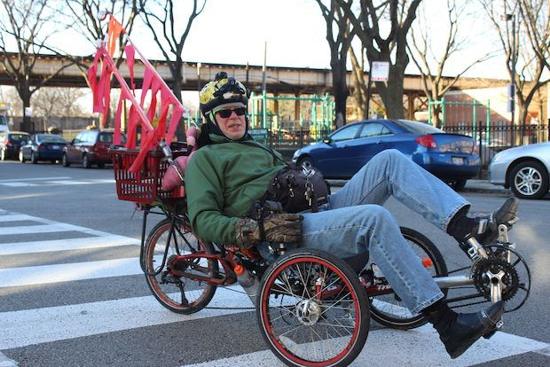 Uptown resident Gene Tenner, 66, is known for riding his tricycle around Uptown. The Uptowner also a bike activist, artist, comunications specialist, CAPS beat meeting facilitator and more.