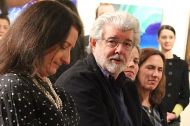 George Lucas was in town Wednesday to present a $25 million gift to After School Matters through his charitable foundation.