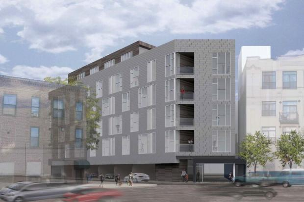 Members of the East Village Association voted 14-0 in favor of supporting a zoning change that would pave the way for a six-story 41-unit apartment building at 1515-17 W. Haddon Ave.