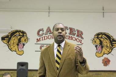 The new head of Hyde Park schools for CPS, Harrison Peters, encouraged residents on Wednesday to form a community action council, but made no promises about it helping to keep Canter Middle School open.