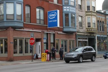 The Intel pop-up store at 901 W. Armitage Ave. will be around until Jan. 25.