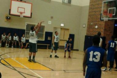 Jeremiah Smith shoots a free throw for Ogden International School of Chicago. Smith, a senior, is averaging about 31 points per game this season.