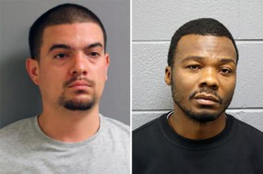 John Merritt (l.) and Kevin Jones are due in court Thursday after being charged in a case of mail theft.