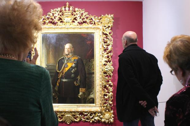 DANK Haus unveiled a restored portrait of Kaiser Wilhelm I, including a 250-pound gilded frame.