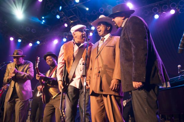 Lonnie Brooks celebrated his 80th birthday during a concert at the House of Blues on Saturday.