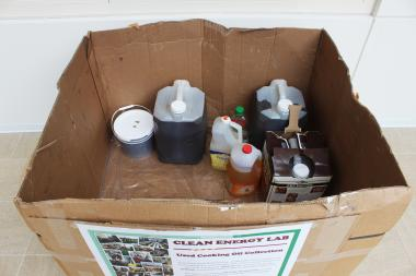The university expects to collect more than 60 gallons of oil left over from Thanksgiving meals.