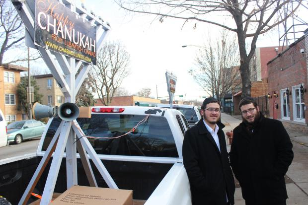 "A West Rogers Park synagogue worked to ""spread the light"" this Hanukkah, organizers said."