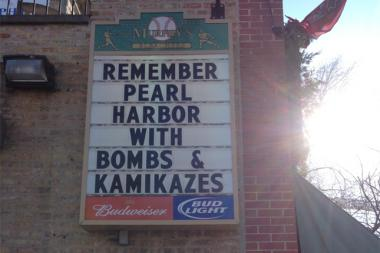 The Wrigleyville bar has apologized for an insensitive message posted on its marquee.