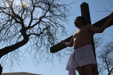 More than a thousand people annually attend Pilsen's live annual Stations of the Cross procession each year.