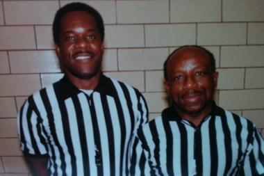 Longtime Chicago basketball ref Reuben Norris (r.) has worked many games with Mau Cason, whom Norris trained.