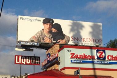 "SnoreStop, an anti-snoring mouth spray company, will debut its ""#betogether"" ad in Chicago on Wednesday."