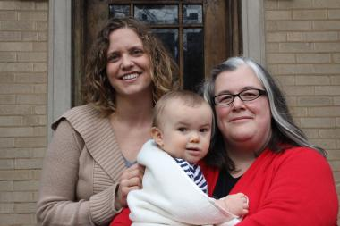 Rachel Epley ( l.), The Song in Me co-founder, Barb Morgan-Browning, and Morgan-Browning's son Isaiah.
