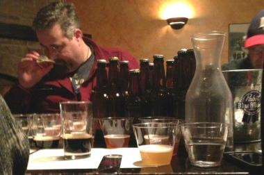 Judging the 2013 Square Kegs Home Brew competition — it's a tough job, but somebody's got to do it.