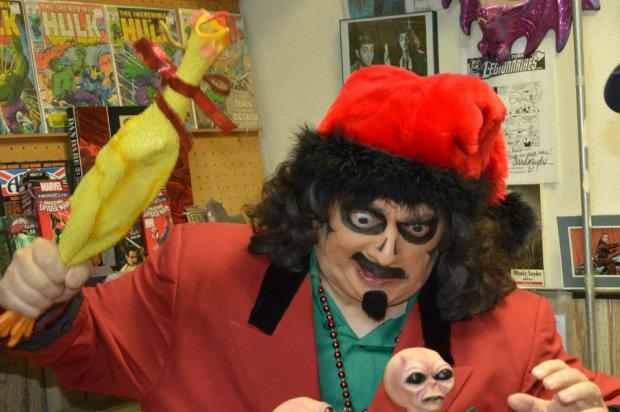 Svengoolie will appear from 1 p.m. to 3 p.m. on Saturday at Alternate Reality Comics in Mount Greenwood. The Chicago icon has been hosting a television horror show since the 1970s.