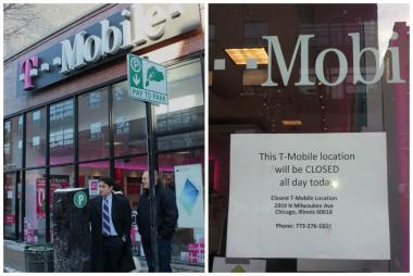 T-Mobile at 1639 N. Milwaukee Ave. in Wicker Park was closed all day Thursday. An armed robbery occurred the night before.