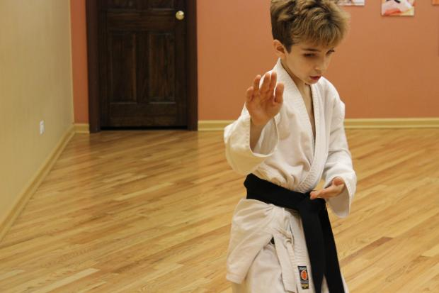 Zachary Berman, 9, is the youngest person to ever earn a tae kwon do black belt at The Peace School