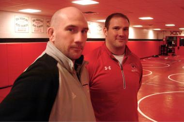 Twin brothers Pat (l.) and Brendan Heffernan will face each other as high school wrestling coaches for the first time on Saturday.