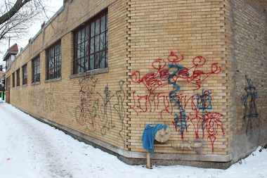 Gang graffiti has plagued a brick wall in the 1600 block of West Albion Avenue, neighbors said.