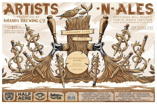 The artists behind some of craft beers' coolest bottles will exhibit their work at winter brewfest.