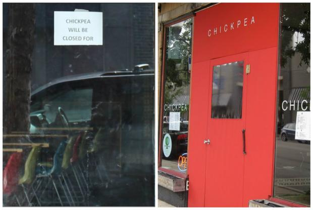 Chickpea at 2018 W. Chicago Ave. appears to have closed.
