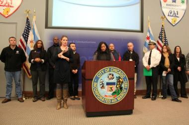 City officials say they're prepared for the snow storm bearing down on Chicago.