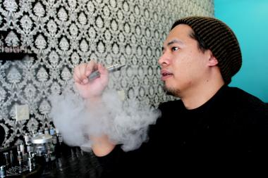 Daryl Cura, co-owner of Vape, 1722 N. Western Ave.