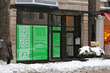 The Freshii at 854 W. Armitage Ave. is slated to open in late March.