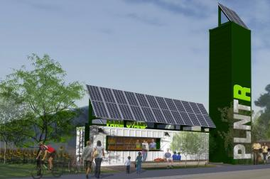 A rendering of the hydroponic garden planned for 2900 W. Van Buren St.