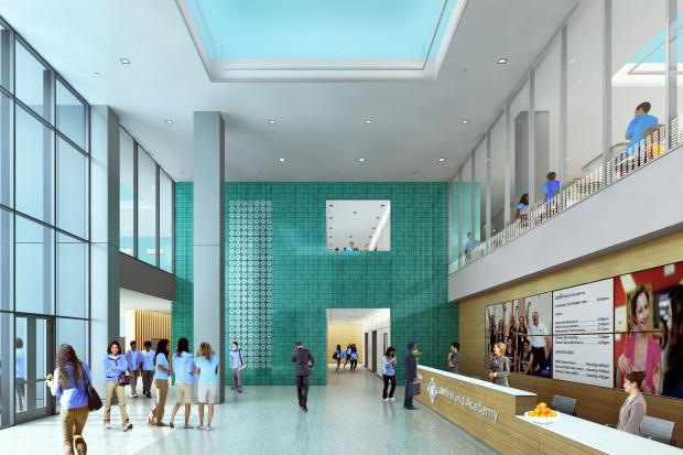 Check out renderings of the private high school planned for  355 E. Wacker Dr.