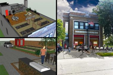 Ald. Joe Moore (49th) announced three final bids for the Greenleaf Avenue Firehouse: proposals for a home-office space, a Hindu temple and headquarters for two organizations.