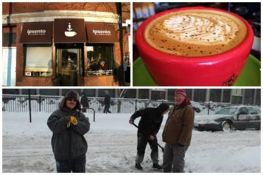 If you're snowed in, Ipsento Cafe is one of many shops staying open for business during the extreme cold.