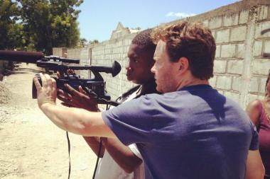 "Jack Newell, a 31-year-old Old Town resident, is in the midst of filming a documentary in Haiti titled ""How to Build a School in Haiti,"" which was inspired by an National Public Radio story."
