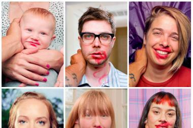 "In Pilsen photographer Jedediah Johnson's series ""The Makeout Project,"" Johnson puts on lipstick and kisses people of all ages."