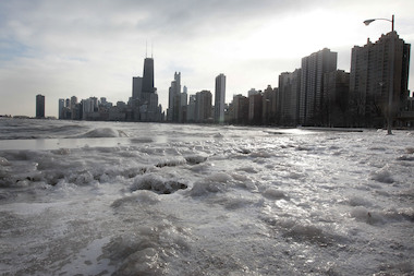 Fire crews rescued a man from Lake Michigan Thursday.