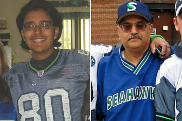 Val Chavez and his son Luis are huge Seattle Seahawks fans.