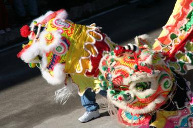 The Lunar New Year parade in Chinatown takes place Feb. 2, 2014.