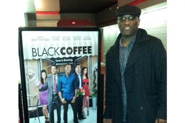 "Chicago indie filmmaker Mark Harris broke onto the national film scene last week with the release of his latest movie, ""Black Coffee."""