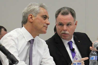 Mayor Rahm Emanuel and Police Supt. Garry McCarthy are drafting a new ordinance on city gun shops.