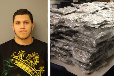 Miguel A. Briseno, 22, of the 3600 block of West 82nd Street, has been charged with one count of felony cannabis possession.