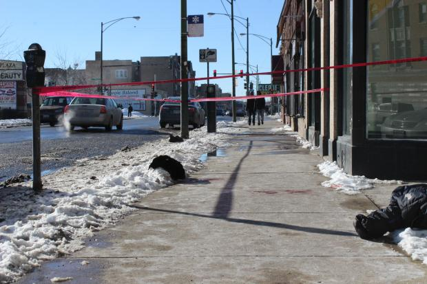 One person was killed, and another was hospitalized following a shooting on the South Side. The shooting occurred at noon Wednesday near a local office of Rep. Bobby Rush (D-Chicago), police said.