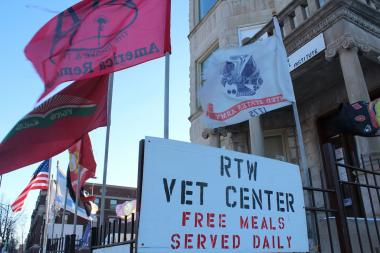 The R.T.W. Veterans Center was forced to close Sunday after a steam pipe burst in the basement, which will likely take a week to fix.