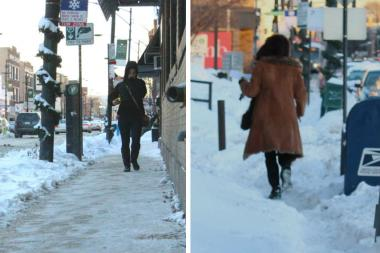 A tale of two sidewalks. Nominate stellar shovelers for the Winter Wonder award; report unshoveled walks via the city's nonemergency 311 telephone number.