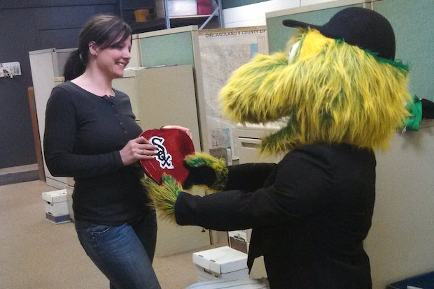 For $245, White Sox fans can send Southpaw, the team's mascot, to surprise that special someone on Valentine's Day.