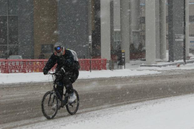 About three more inches of snow could accumulate before this afternoon, weather forecasters said.
