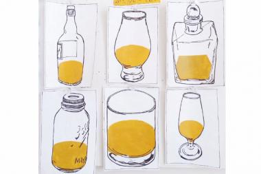 "Andrew R. Wright's ""The Whiskey Images"" will be on display for DryHop Brewer's new whiskey and art series."
