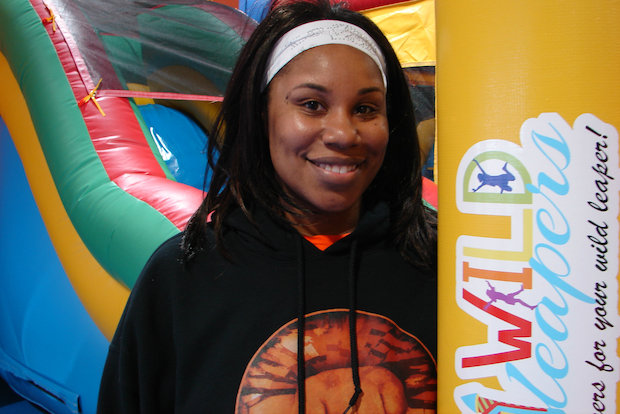 LaToya Jenkins will open Wild Leapers in Beverly this weekend. The indoor play lot features six, giant inflatables, including a bounce house, two slides, an obstacle course and basketball shooting area.
